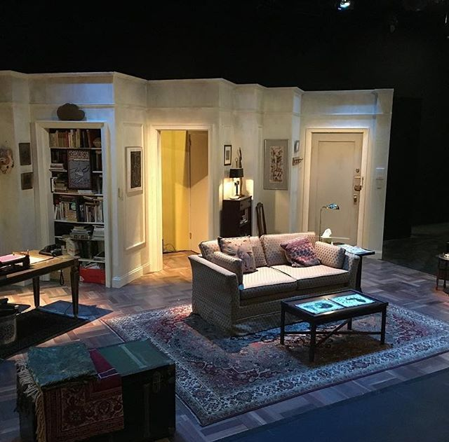 The stage is set and awaits an audience. Thank you to the brilliant set designer John McDermott for creating Vera's NYC apartment right here at Shakespeare & Company!