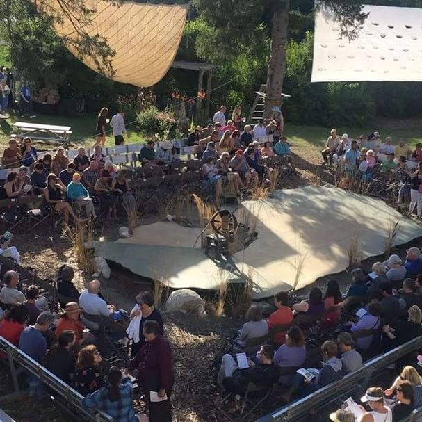 What a great turn out for tonights opening of The Tempest! In our new Roman Garden theatre 🎭 #intheberkshires