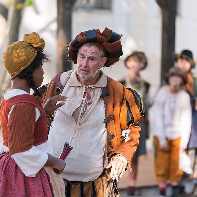 Oh poor Falstaff, he is in for it! The Merry Wives rule! #shakeandco. #intheberkshires. Photo @nilescottstudios