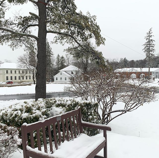 """I wonder if the snow loves the trees and fields that it kisses them so gently? And when it covers them up snug, you know, with a white quilt; and perhaps it says, 'Go to sleep, darlings, till the summer comes again.'"" - Lewis Carroll  Our campus in cozy slumber."
